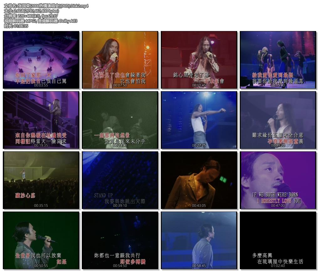 [480P]张国荣:[2000热情演唱会]双轨含伴奏-卡拉OK字幕  DVD提取mp4格式无水印