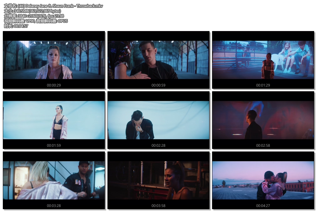 [4K] Delaney Jane ft. Shaun Frank - Throwback (Official Video)