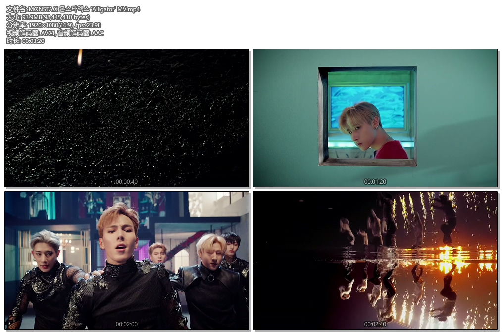 [1080P] MONSTA X 몬스타엑스 'Alligator' MV
