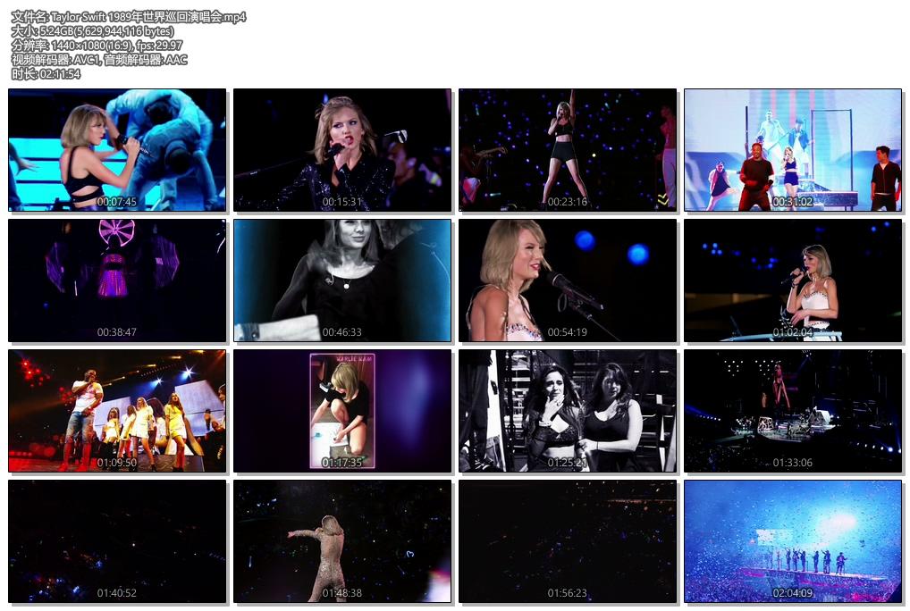 [1080P] Taylor Swift 1989世界巡回演唱会(The 1989 World Tour)
