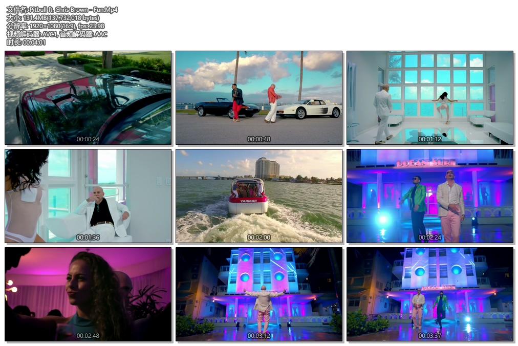 [1080P] Pitbull ft. Chris Brown - Fun (Official Video)