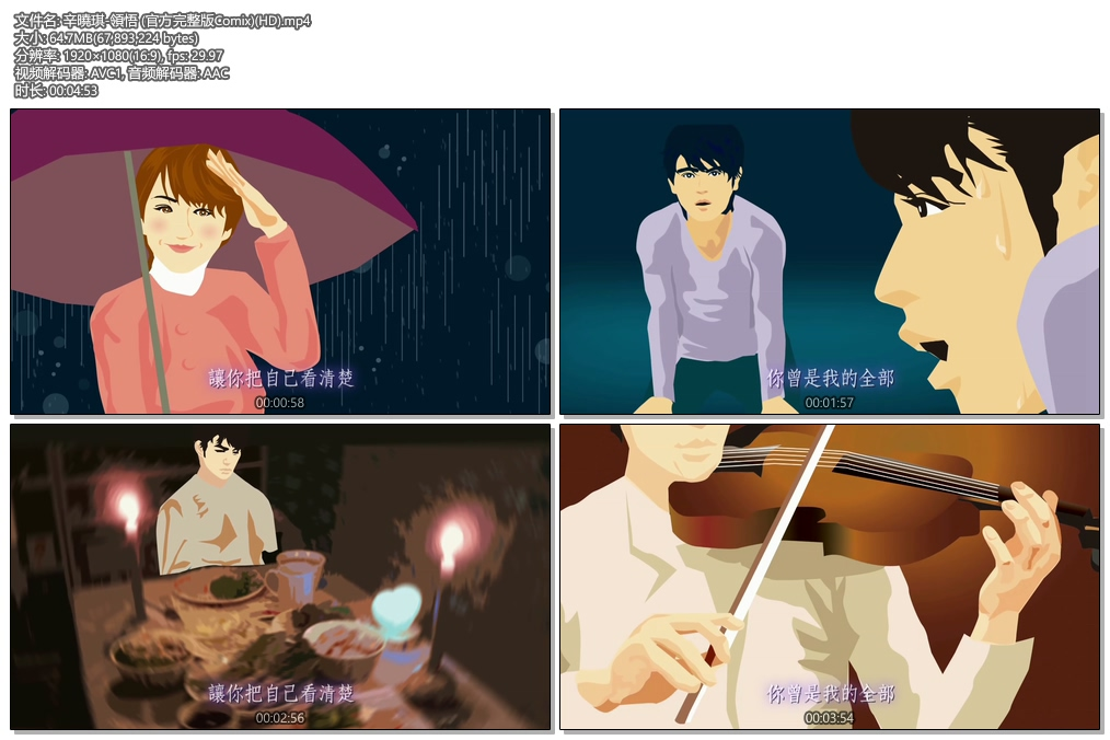 [1080P] 辛晓琪 - 领悟 官方完整版Comix