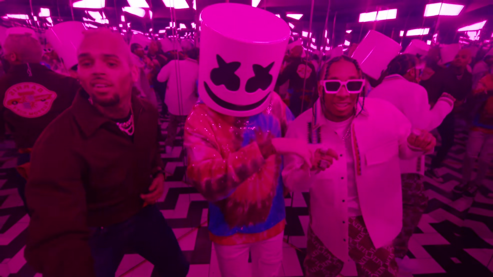 [4K] Marshmello ft. Tyga,Chris Brown- Light It Up (Official Video)