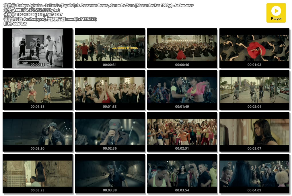 Enrique Iglesias - Bailando (Español) ft. Descemer Bueno, Gente De Zona [Master ProRes 1080p] -JatSen.mov